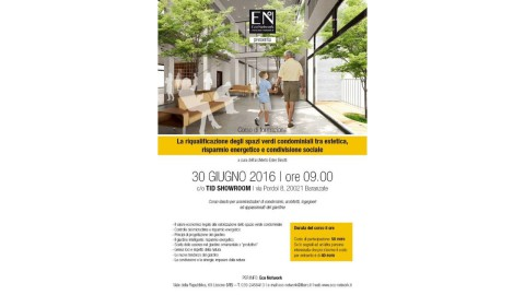 Eco Network_Corso formativo_La riqualificazione degli spazi verdi_30.06.2016