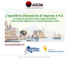 L'equilibrio finanziario di imprese e P.A._Napoli_5 maggio 2016
