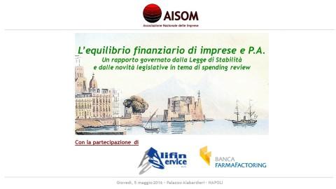 COMUNICATO_L'equilibrio finanziario di imprese e P.A._Napoli_5 maggio 2016