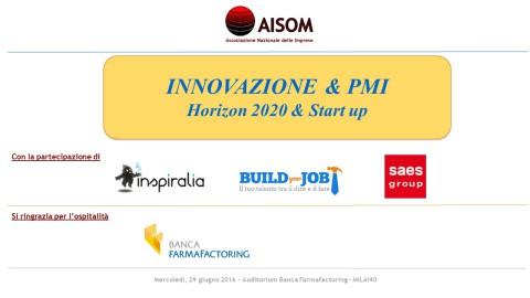 COMUNICATO_Innovazione & PMI_Milano_29 giugno 2016