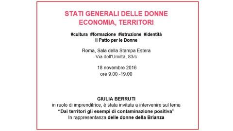 ROMA_18 NOVEMBRE_STATI GENERALI DELLE DONNE ECONOMIA, TERRITORI