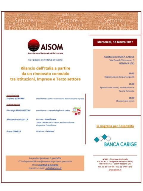 Genova_15 marzo 2017_Rilancio dell'Italia a partire da un rinnovato connubio tra Istituzioni, Imprese e Terzo settore