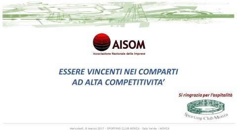 COMUNICATO_Essere vincenti nei comparti ad alta competitività_Monza_8 marzo 2017