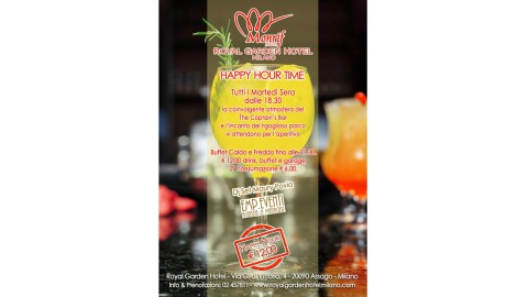 L'HAPPY HOUR del MARTEDI' al ROYAL GARDEN HOTEL