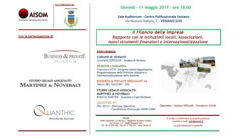 VENIANO (CO)_11 maggio 2017_Il rilancio delle imprese