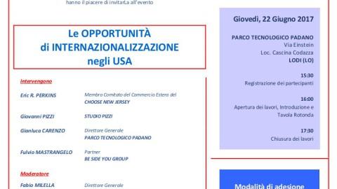 """""""Le opportunità di internazionalizzazione negli USA"""", Lodi 22 giugno 2017"""