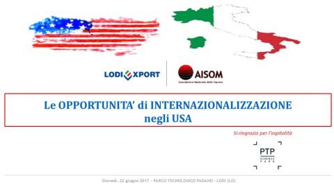 COMUNICATO_Le opportunità di internazionalizzazione negli USA_Lodi_22 giugno 2017