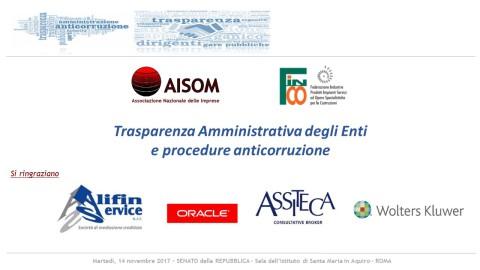 """COMUNICATO_""""Trasparenza Amministrativa degli Enti e procedure anticorruzione"""", Roma 14 novembre 2017"""