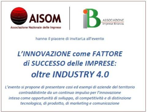 """Monza, 24 gennaio 2018_""""L'INNOVAZIONE come FATTORE di SUCCESSO delle IMPRESE: oltre INDUSTRY 4.0″"""