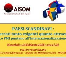 "Milano, 14 febbraio 2018_""PAESI SCANDINAVI : mercati tanto esigenti quanto attraenti"""
