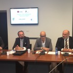 da sn. R. Benetti (Promos), P. Caresana (Lodi Export), GM Senna (Regione Lombardia), S. Vergani (Aisom)