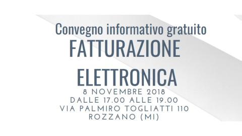 ROZZANO (MI), 8 novembre 2018_FATTURAZIONE ELETTRONICA