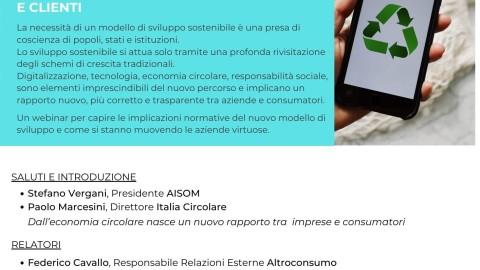 WEBINAR_AISOM_ECONOMIA CIRCOLARE_RAPPORTO AZIENDE e CONSUMATORI_20 maggio 2021